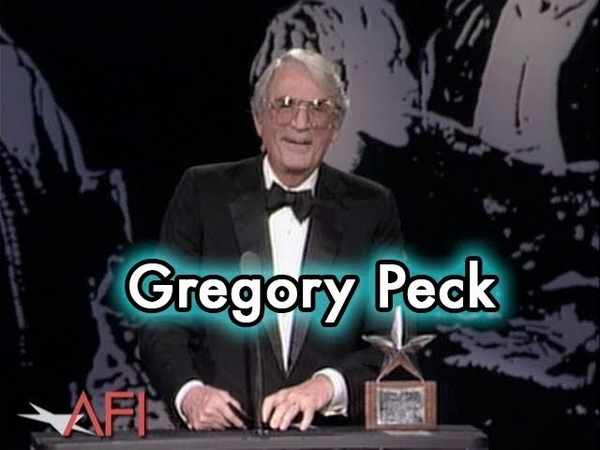 1989 March 9; Gregory Peck Accepts the AFI Life Achievement Award at the Beverly Hilton in Beverly Hills, California.