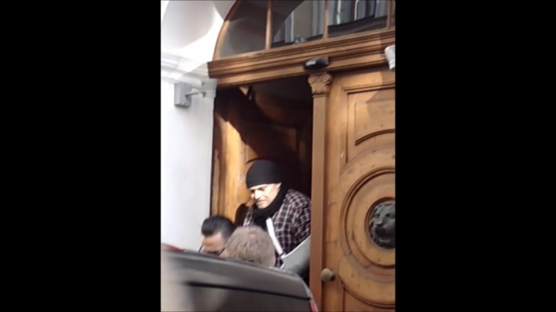 Depeche Mode leave the hotel Andrew Fletcher signing autographs Riga, Latvia 03.