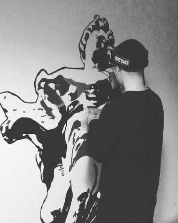 NOISEMAKER HIDE on Instagram dots collective 今日はAGと壁に 二人でやるとやはり早い 完成お楽しみに 123