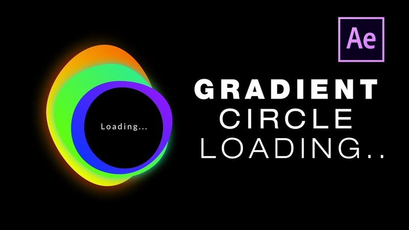 After Effects - Gradient Circle Loading Animation Tutorial