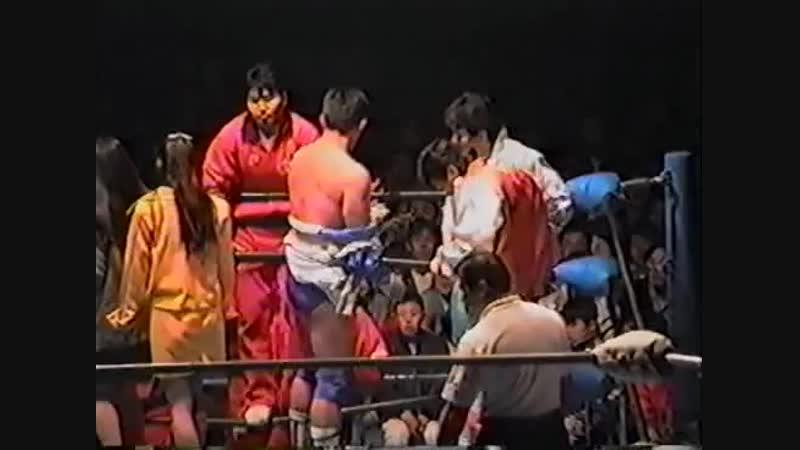 1993.11.25 - Mitsuharu Misawa/Kenta Kobashi/Jun Akiyama vs. Toshiaki Kawada/Akira Taue/Yoshinari Ogawa [HANDHELD]