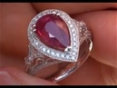 UNHEATED UNTREATED Ruby Diamond Art Deco Cocktail Ring