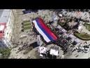 Один из самых больших флагов РФ развернули в Севастополе