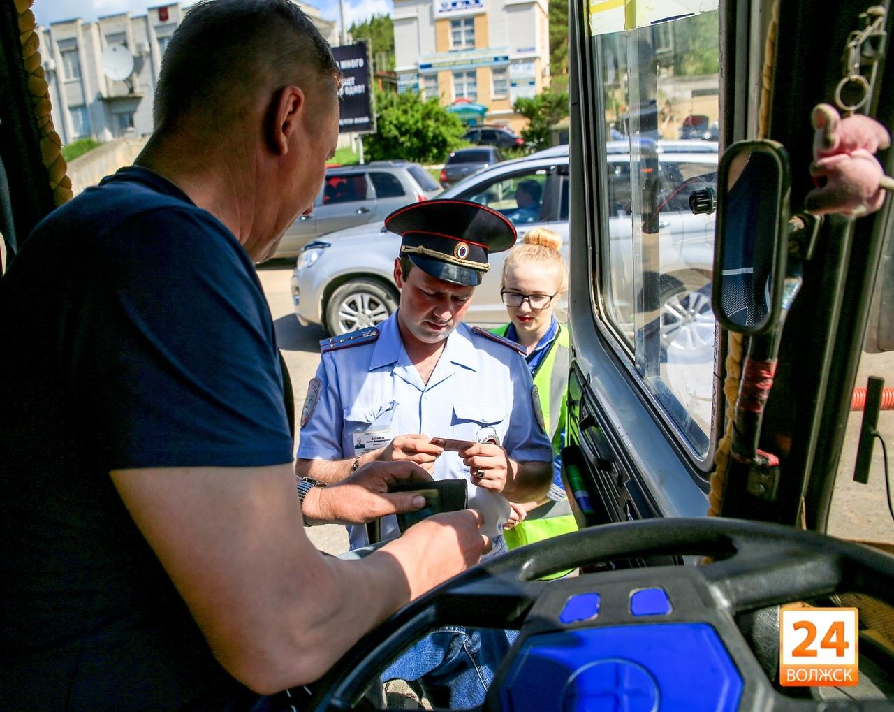 Волжские автобусы - в центре внимания ГИБДД.