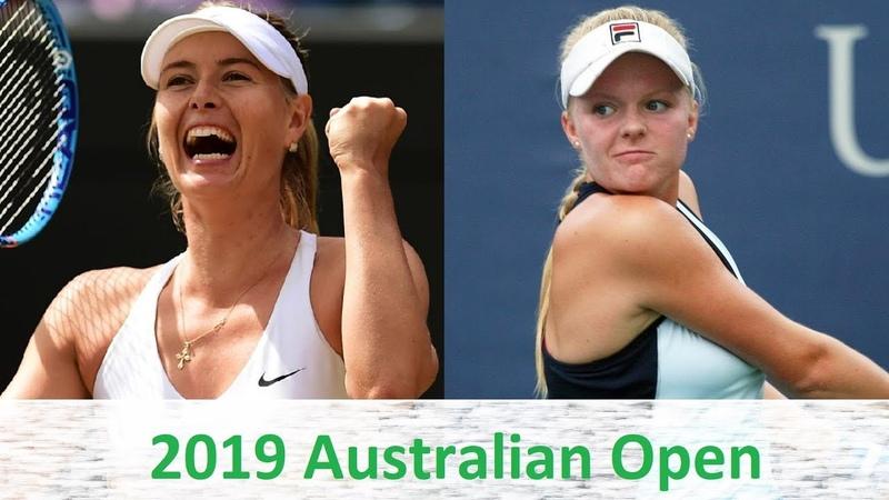 Maria Sharapova vs Harriet Dart 2019 Australian Open Highlights