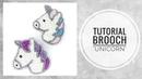 МК - Вышитая бисером брошь Единорог   Tutorial - Beaded unicorn brooch
