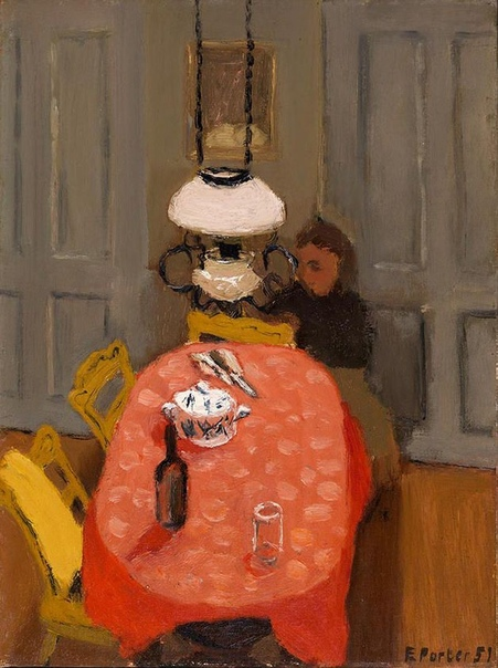 Fairfield Porter (19071975), Interior, 1951, Oil on canvasboard, 46.99x39.37 cm Smith College Museum of Art