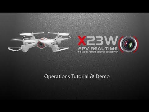 Syma X23W Operation Tutorial