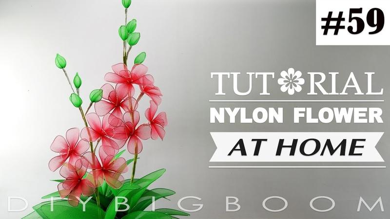 Nylon stocking flowers tutorial 59, How to make nylon stocking flower step by step
