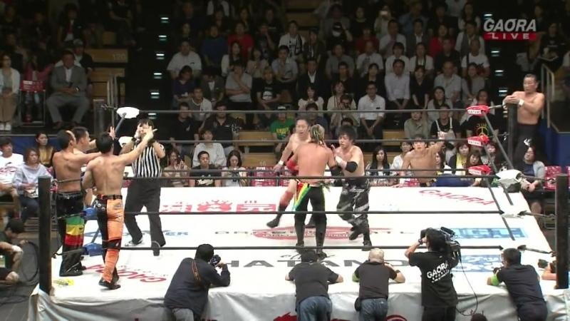 Don Fujii, Ryo Saito, Jason Lee, Yuki Yoshioka vs. Genki Horiguchi, Punch Tominaga, Oji Shiiba, Kota Minoura (Dragon Gate - Stor