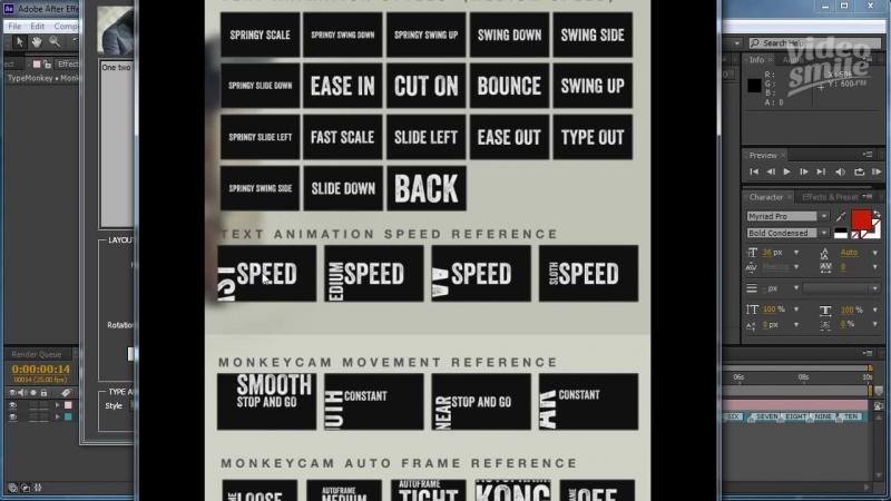 After Effects Кинетическая типографика в один клик
