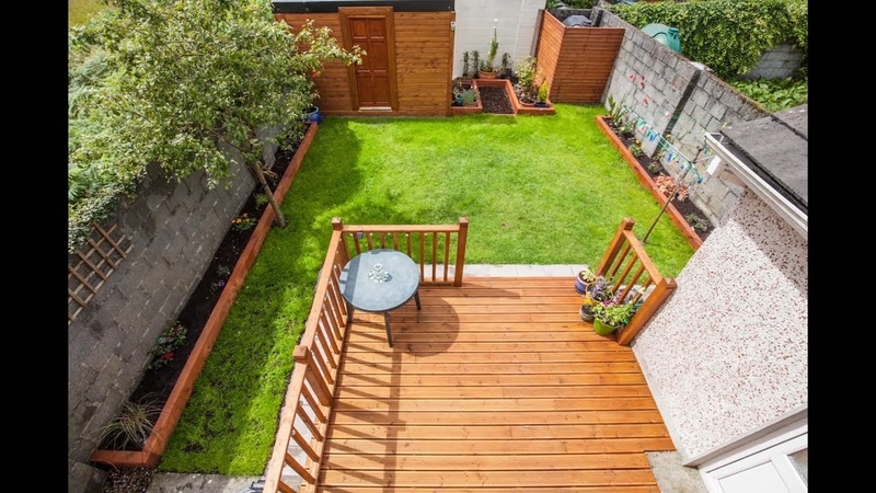 Back garden renovation, new shed, decking and lawn.