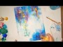 Abstract acrylic painting on canvas_Абстракция акрилом на холсте (1)