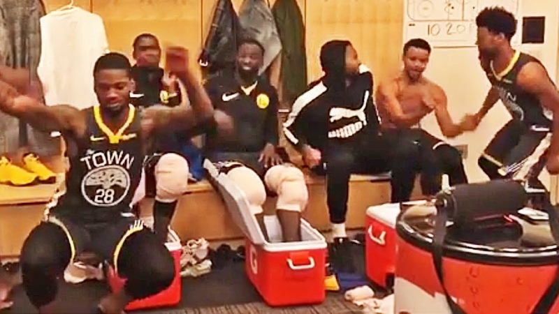 Warriors Mock Fergie's Ex By Playing National Anthem Remix In The Locker Room