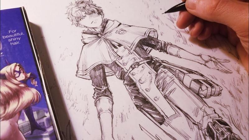 Drawing TODOROKI SHOUTO Magic Knight Redesign Black Clover   Anime Manga Sketch