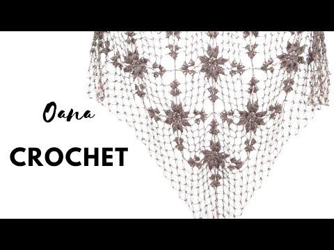 Crochet Fancy shawl by Oana