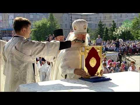 Божественная литургия на центральной площади города Котлас Архангельской области