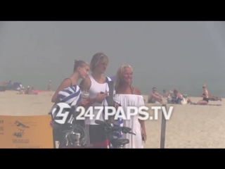 July 3: Video of Justin and Hailey Baldwin hanging out on the beach in The Hamptons, NY.
