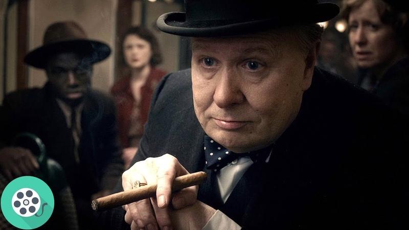 Уинстон Черчилль спустился в метро, чтобы пообщатсья с людьми. Тёмные времена (2017) год.