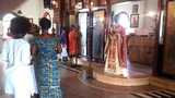 Dancing after the end of the Divine Liturgy at the Orthodox Church in Ghanat