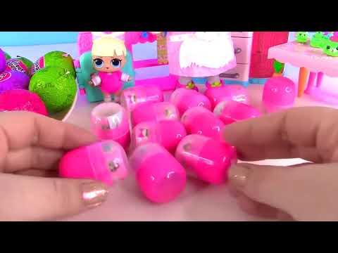 Шоколадные ЯЙЦА с СЮРПРИЗОМ с куклами ЛОЛ LOL Chocolate Surprise Eggs Мультик с Май Тойс Пинк
