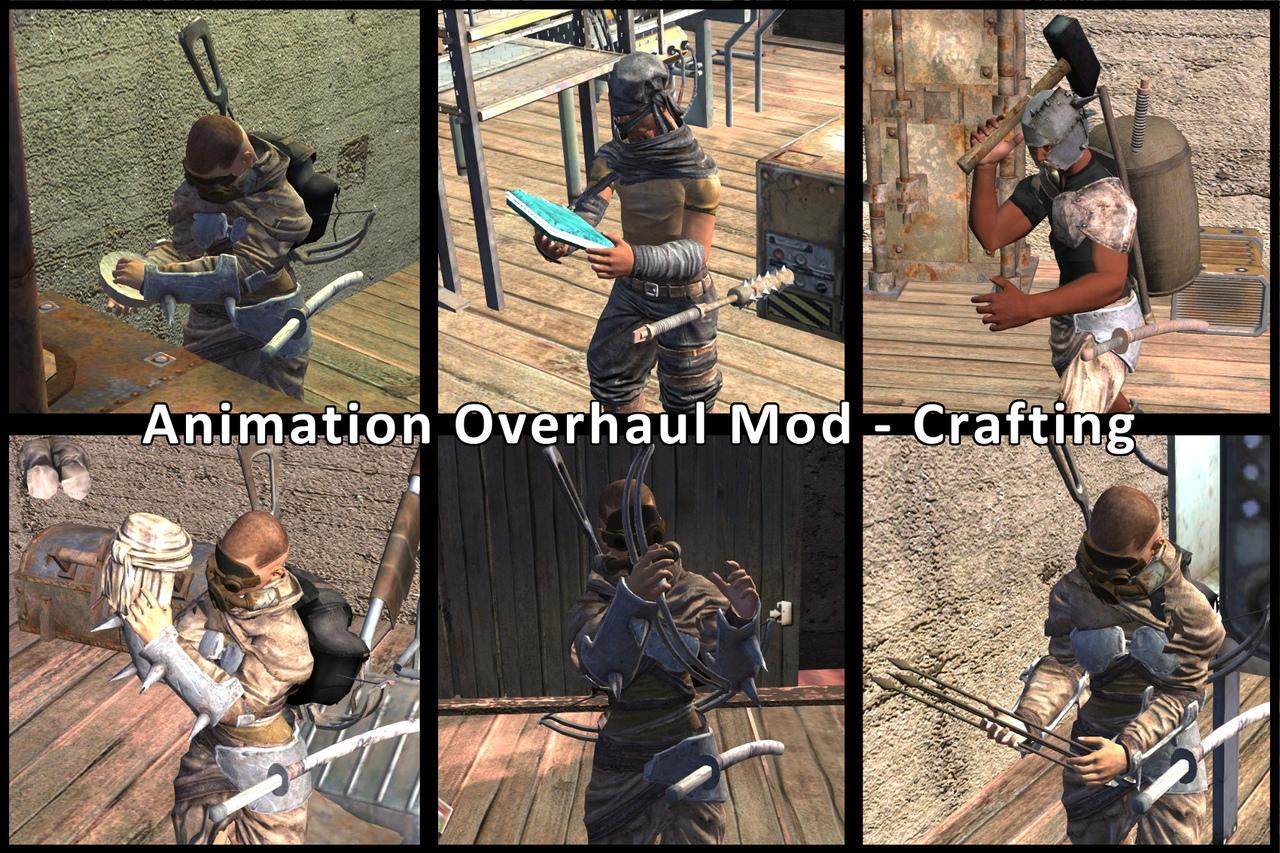 """Animation Overhaul Mod - Crafting / Капитальный ремонт анимации """"Крафтига"""""""