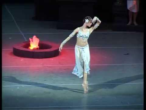 Ульяна Лопаткина и Николай Цискаридзе в балете Л. Минкуса Баядерка. 2007.
