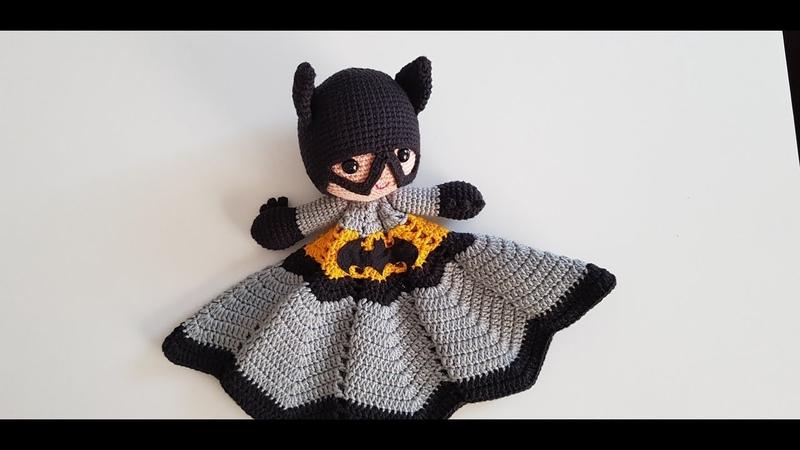 örgü oyuncak batman uyku arkadaşı , amigurumi batman free pattern