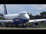 1st Boeing 747-8F Silkway Airlines Test Flight + RTO @ KPAE Paine Field