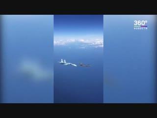 Российский СУ-27 отогнал истребитель НАТО