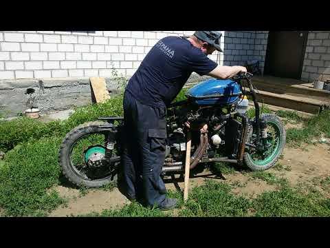 ЗАПУСТИЛ Мотоцикл c двигателем от Ваз 2109 Часть 8