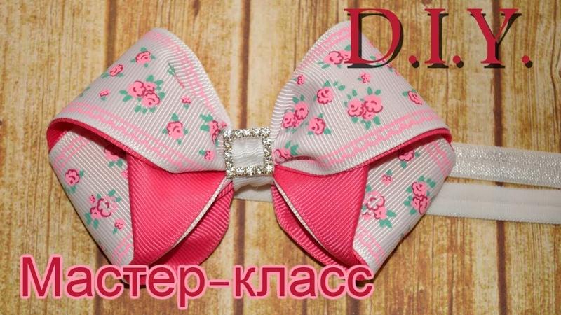Повязка на голову из лент МК 🎀 🎀 🎀 Tutorial ribbon tiara kanzashi bows