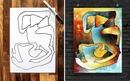 Художник превращает каракули своего 3-летнего сына в абстрактное искусство