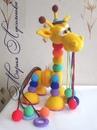 Радужный жираф из шариков