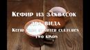Кефир из заквасок сравнение двух видов закваски и приготовление кефира Kefir from starter cultures