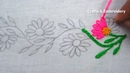 Hand Embroidery, Easy Border Line Embroidery, Lazy Daisy Stitch