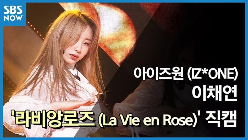 SBS [인기가요] - 아이즈원 이채연 라비앙로즈(La Vie en Rose) 리허설 직캠 SBS INKIGAYO IZ*ONE Lee Chaeyeon FanCam