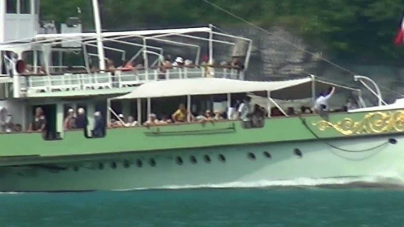швейцарский колесный пароход LÖTSCHBERG - STEAMBOAT BARCO DE VAPOR ÅNGBÅT