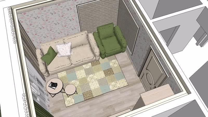 Видео облёт гостиной комнаты в прованс стиле...
