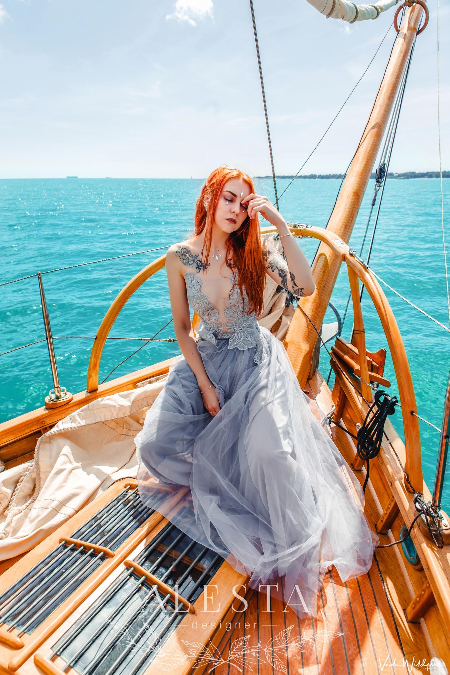 То самое платье, которое проделало путь от моей мастерской до Англии,  затем вернулось в Уфу и было продано в город Тольятти.