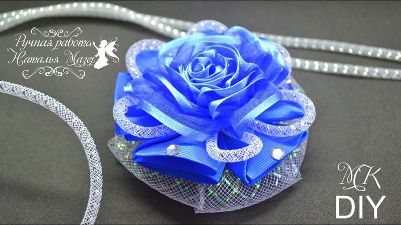 Канзаши Нарядные банты МК Handmade Ribbon Flowers Hair Bows