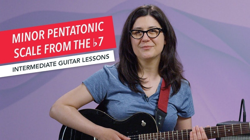 How to Play Guitar Minor Pentatonic Scale from the b7 Intermediate Guitar Lessons