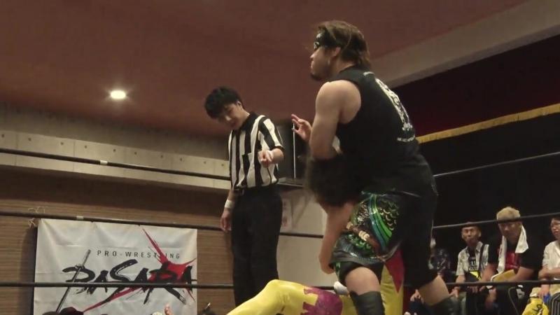 Trans Am Hiroshi vs. Yasu Urano (BASARA - Osaka Beer Garden Pro-Wrestling 2018)