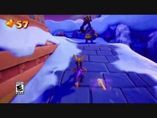 Spyro reignited trilogy - frozen altars gameplay | ps4