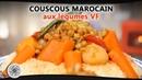 Choumicha : Recette de Couscous Marocain aux Légumes (VF) - Moroccan Couscous