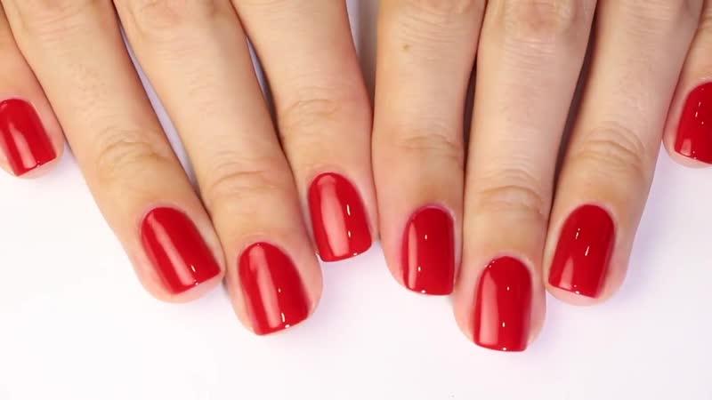 Как РОВНО и АККУРАТНО красить ногти лаком (на обеих руках) Секреты beauty-блоггеров