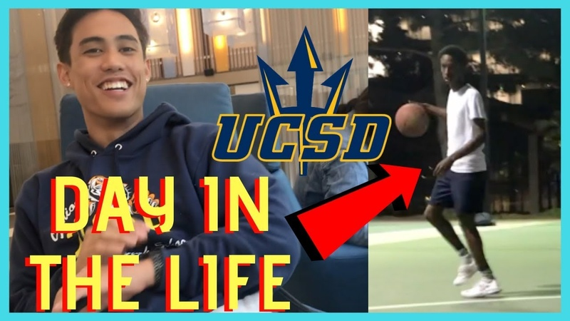 A Day In The Life Of A College Student UCSD Freshman Vlog Basketball 64 Degrees Dining Hall
