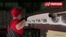 Монтаж пластикового водостока VINYLON на дом отделанный сайдингом