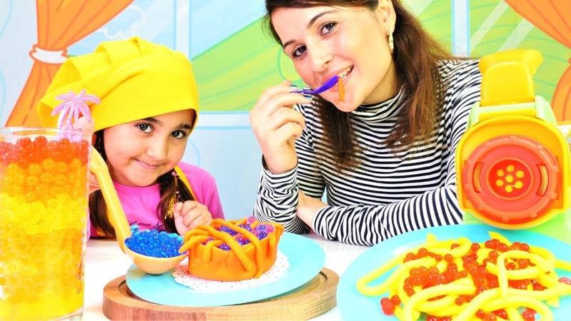 Play Doh oyun hamuru Restoran açalım Yemek pişirme oyunu