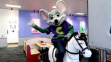 Chuck E Cheese Loves Horses and Eli won't let go of Chuck E Cheese